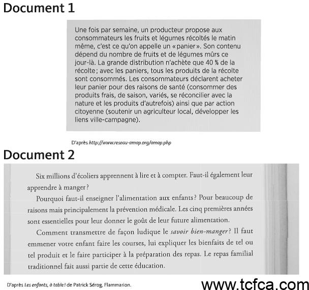 TCF Canada Expression Ecrite