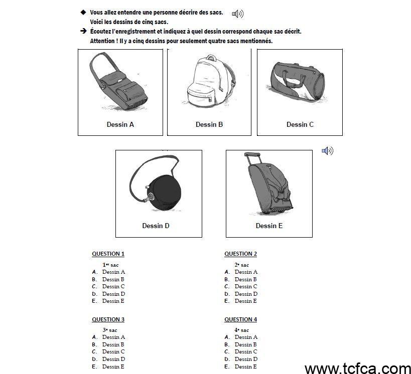 Section A TEF Canada Comprenhesion orale
