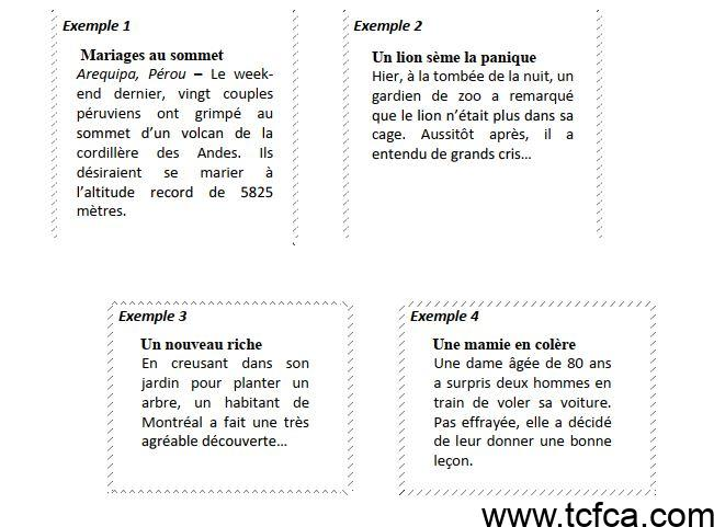 TEF Canada Expression Ecrite section A.