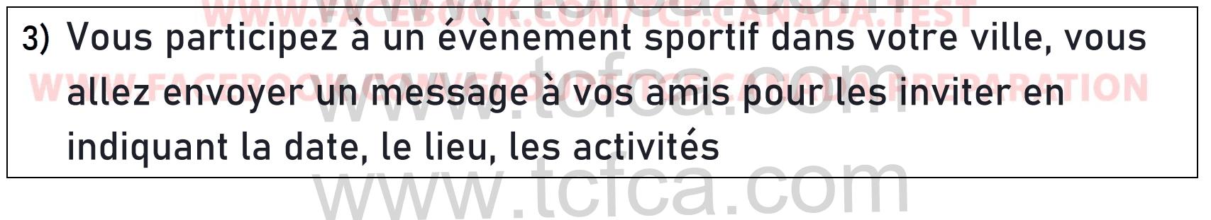 TCF Canada Expression Écrite Tâche 1