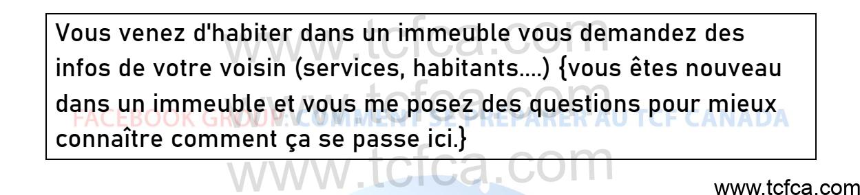 TCF Canada Expression Orale Tâche 2