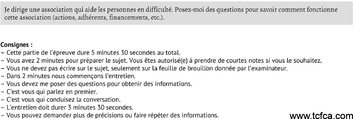 TCF Canada Expression Orale