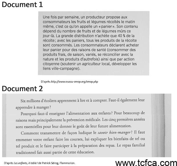 TCF Canada Expression Écrite